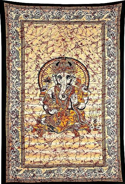 Amazon.com: Hindu Tapestry Lord Ganesha Tapestry Wall Hanging Home ...