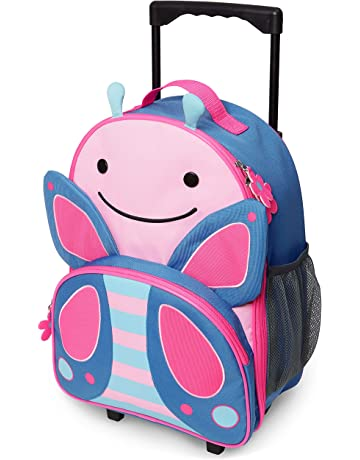 9710940ff Skip Hop Kids Luggage with Wheels, Butterfly