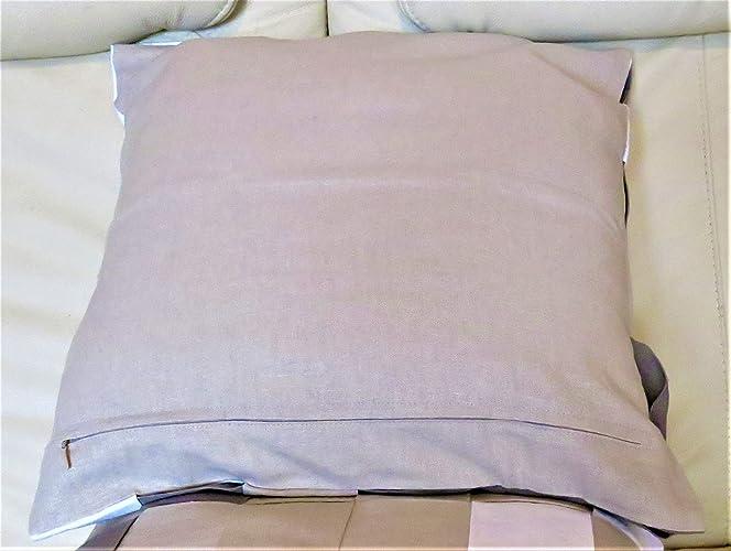 Fundas de cojin 40x40 cm de lino con aplicacia: Amazon.es ...