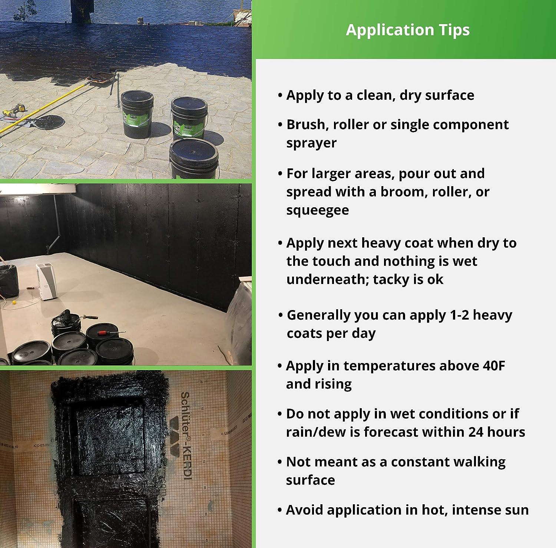 Liquid Rubber Foundation Sealant, Black 5 Gallon