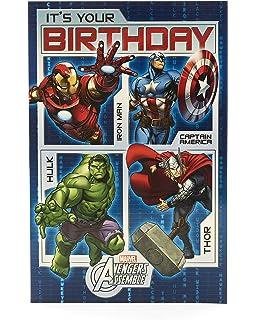 Tarjeta de cumpleaños de Los Vengadores - Tarjeta de regalo ...
