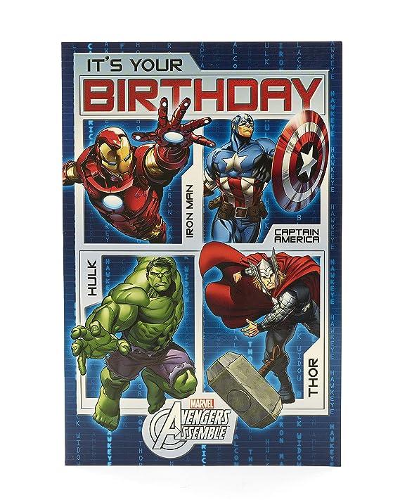 Amazon.com: Marvel de Los Vengadores personajes Tarjeta de ...