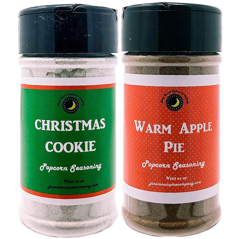 Premium | POPCORN SEASONING | Variety 2 Pack | Christmas Cookie Popcorn Seasoning | Warm Apple Pie Popcorn Seasoning | Crafted in Small Barches with Premium Farm Fresh Ingredients