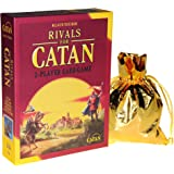 Rivals for Catan _ Two Player Card Game _ New Box Design _ Bonus Gold Metallic Drawstring Pouch _ Bundled Items