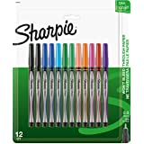 Sharpie Pen, Fine Point, Assorted Colors, 12-Count