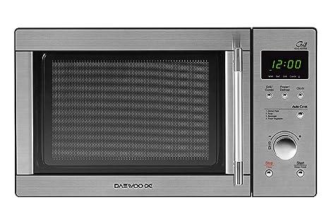 Daewoo KOG-837RS - Microondas, 800 W, 23 litros, con grill, inox ...