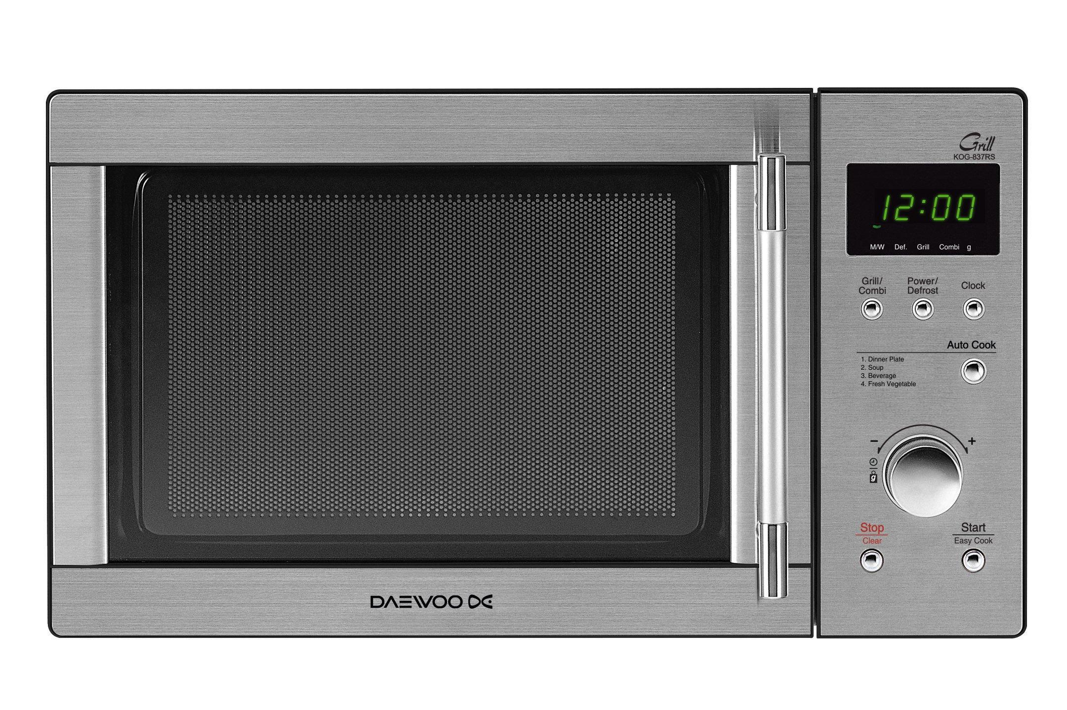 Daewoo KOG-837RS - Microondas, 800 W, 23 litros, con grill, inox product image