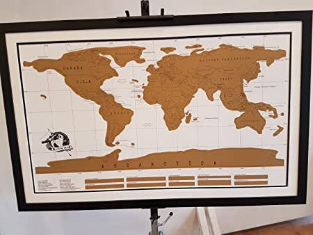 Scratch Map Of The WorldMounted And Framed Simply Scratch Off - Framed scratch world map