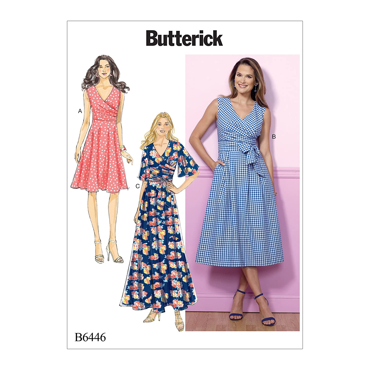 Butterick Patterns 6446 A5,Misses Dress,Sizes 6-14, Multicoloured The McCall Pattern Company B6446-A50