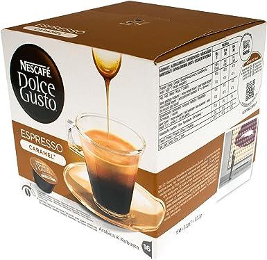 Dolce gusto - Nescafé cápsulas de café espresso caramelo, 16 ...