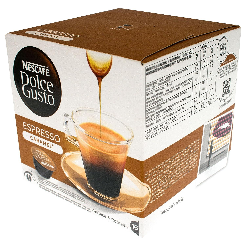 Dolce gusto - Nescafé cápsulas de café espresso caramelo, 16 cápsulas: Amazon.es: Alimentación y bebidas