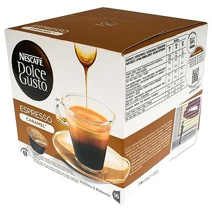 Dolce gusto - Nescafé cápsulas de café espresso caramelo, 16 cápsulas