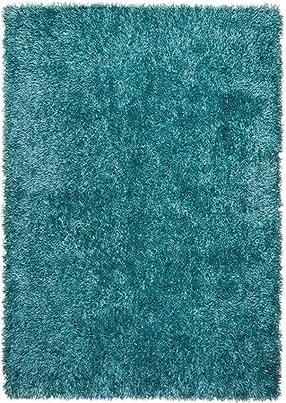 Theo Keller Hochflor Teppich Blau 60 Cm X 90 Cm Shaggy Modern