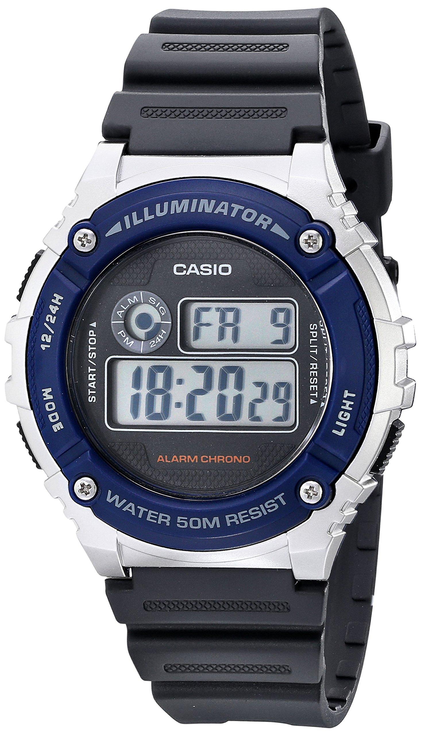 Unisex W-216H-2AVF Illuminator Watch With Grey Resin Band