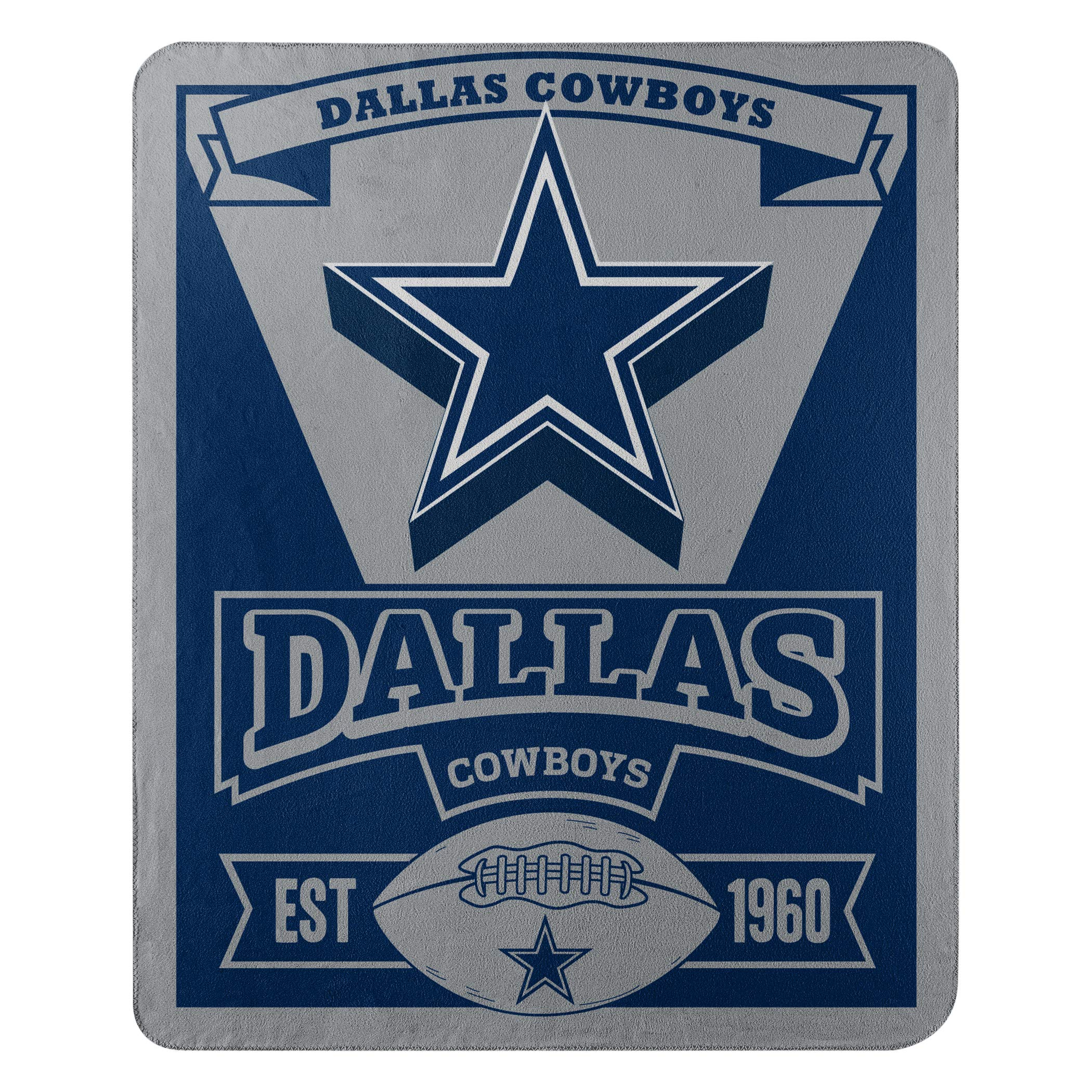 The Northwest Company Officially Licensed NFL Dallas Cowboys Marque Printed Fleece Throw Blanket, 50'' x 60'', Multi Color by The Northwest Company