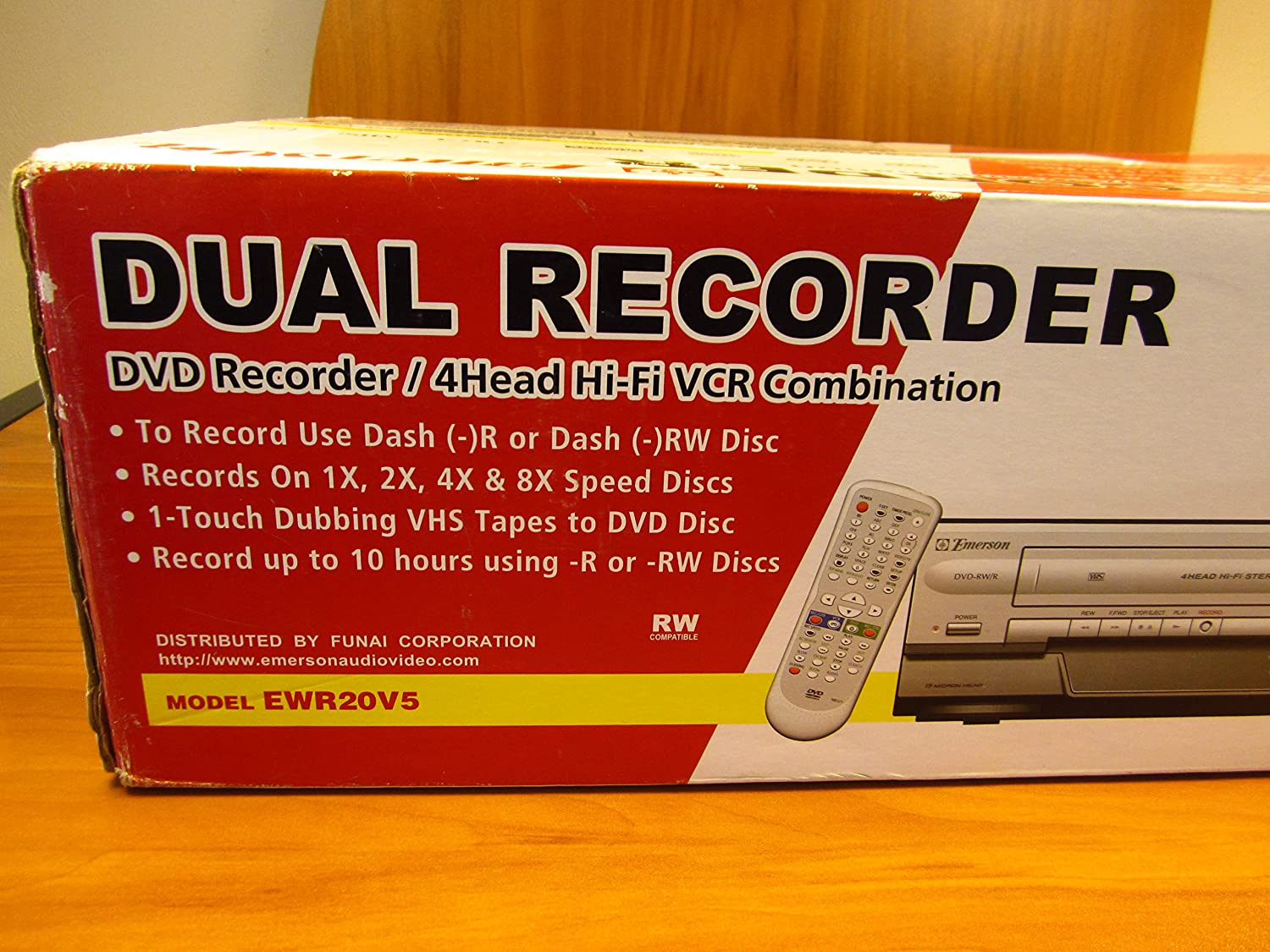 Limited qty Emerson EWR20V5 DVD Recorder/VCR Combo