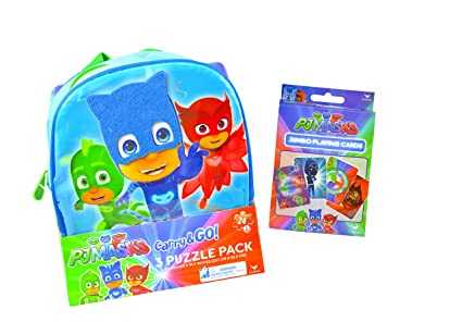 PJ Masks Puzzles Game Backpack Set