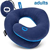 BCOZZY Chin Supporting Travel Pillow- Keeps The Head from Falling Forward - Comfortably Supports The Head, Neck and Chin in Any Sitting Position. Adult Size, Navy