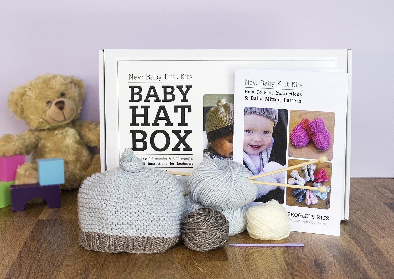 Bebé gorro - Kit para tejer con Pure bebé lana de merino y aprender ...