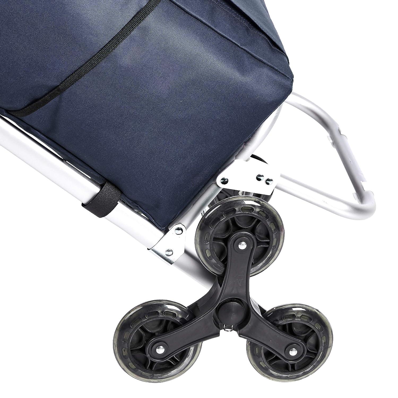 capacit/à: 50 litri colore: rosso Basics 3 manici in alluminio Carrello portaspesa con 3 ruote