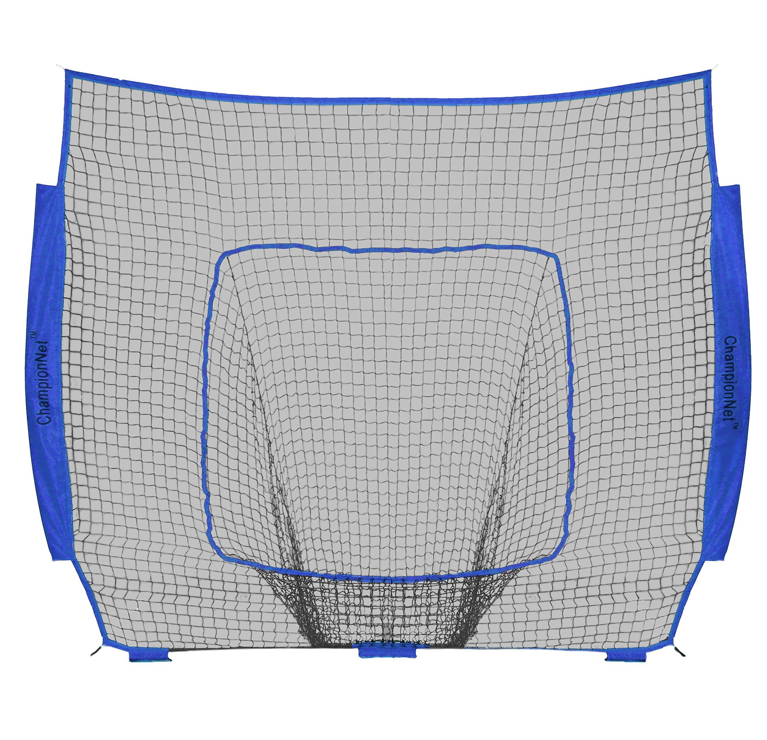 ChampionNet Baseball/Softball 7' x 7' Hitting Net Replacement NO Frame - Royal Blue by ChampionNet
