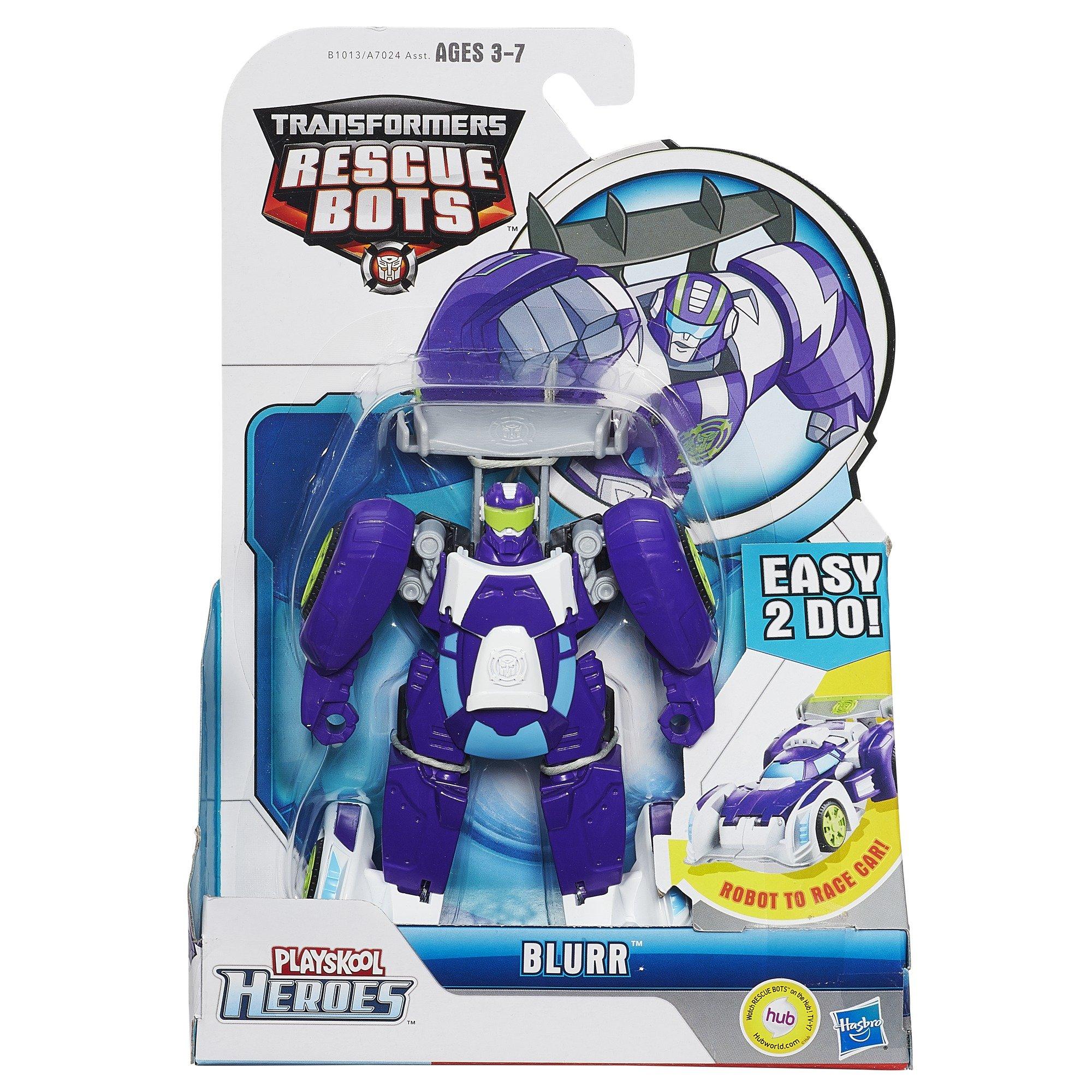 Playskool B1013 Heroes Transformers Rescue Bots Blurr Figure by Playskool (Image #2)
