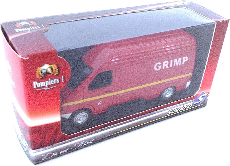 G/én/érique Mercedes Benz Sprinter GRIMP Pompier SOLIDO 1//43