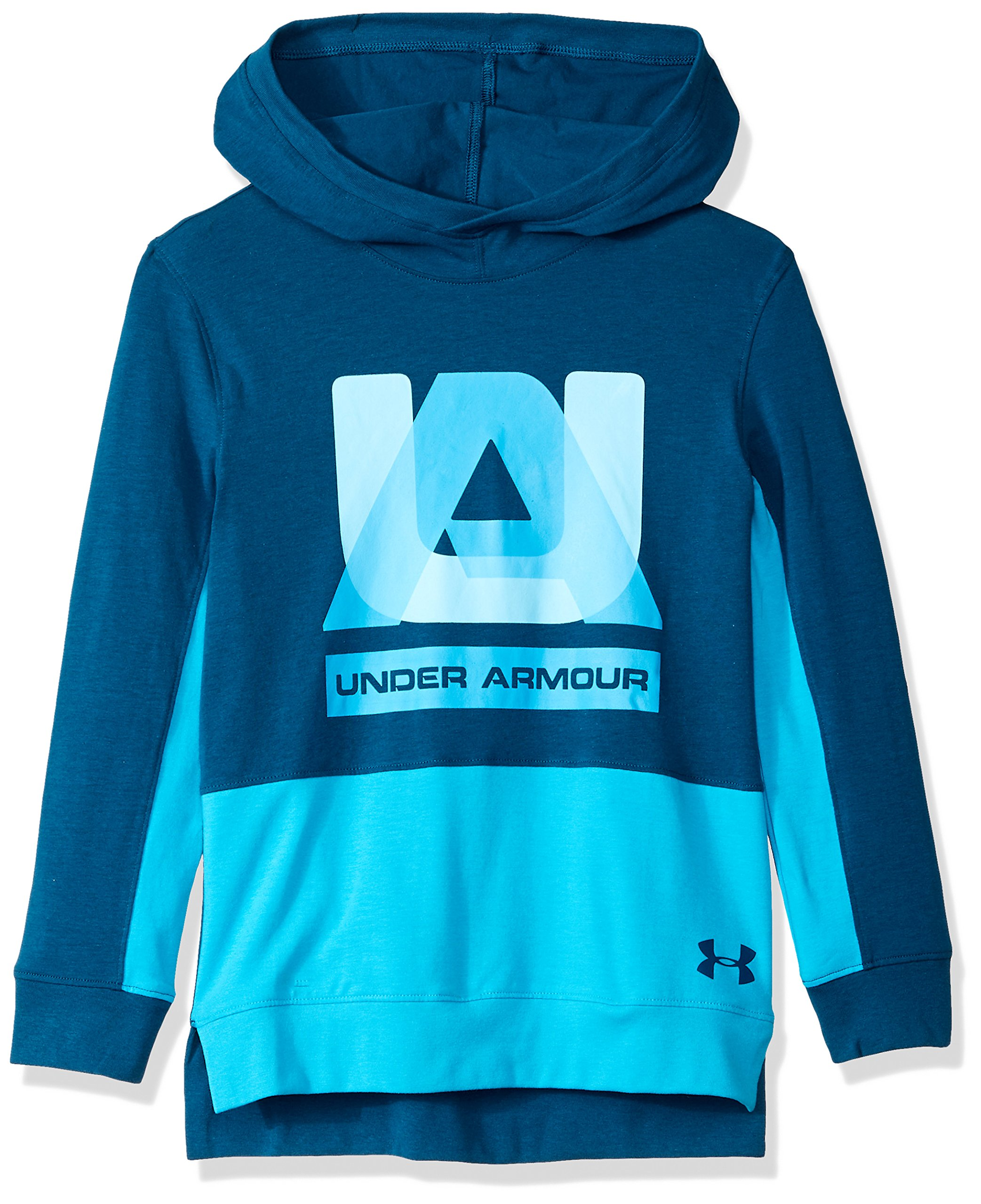 Under Armour Boys sportstyle Hoodie, Techno Teal (489)/Techno Teal, Youth Small by Under Armour