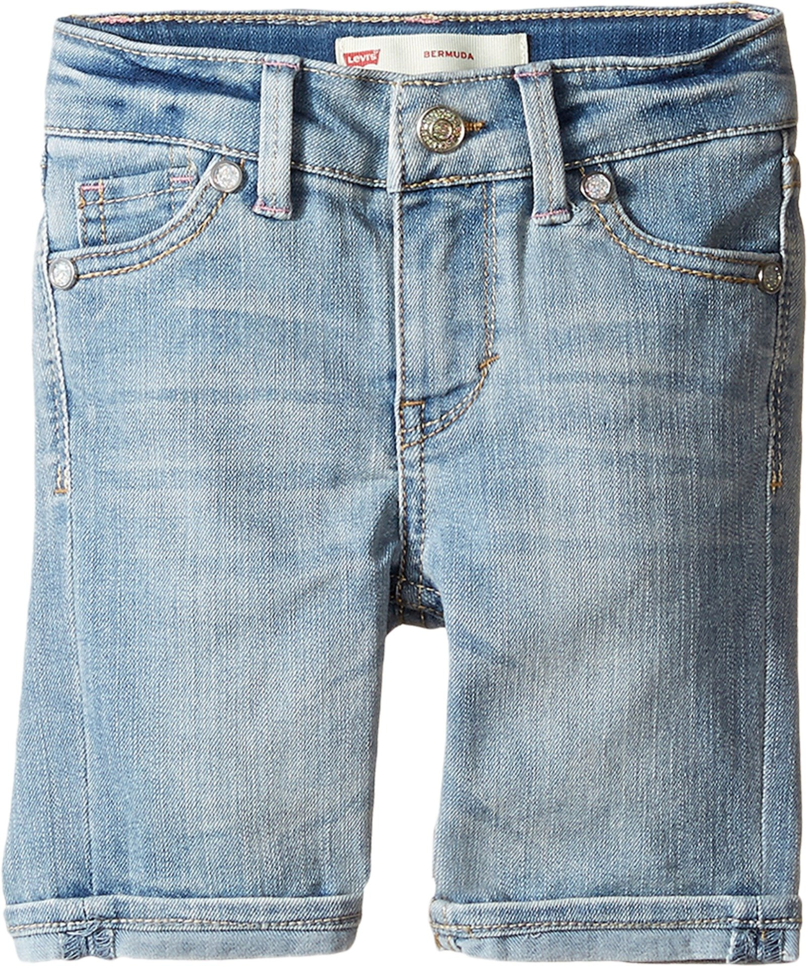 Levi's Kids Baby Girl's Sweetie Bermuda Shorts (Toddler) Deserted Indigo Shorts