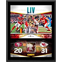 $79 » Kansas City Chiefs 12'' x 15'' Super Bowl LIV Champions Sublimated Plaque with Game-Used Confetti - Fanatics Authentic Certified