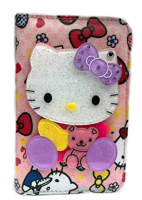 Amazon.com: Hello Kitty Medium Billetera cierre En La Parte ...