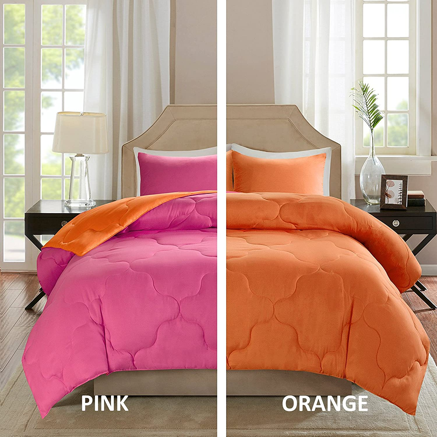 Amazoncom Comfort Spaces Vixie Reversible Goose Down Alternative Comforter Mini