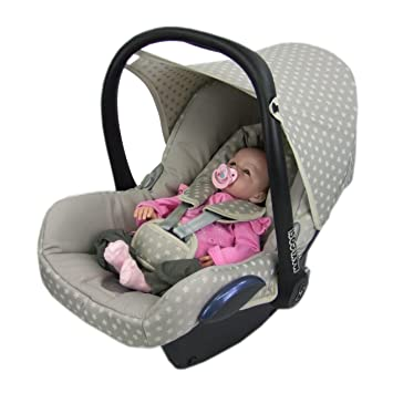 Bambini World Replacement Seat Cover Fits Maxi Cosi Cabriofix Complete Set 6 Pcs Cover For Child Star Beige New Baby
