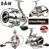 DAM Quick Steelpower Red - Distance Surf 765 FD - Moulinet Frein Avant