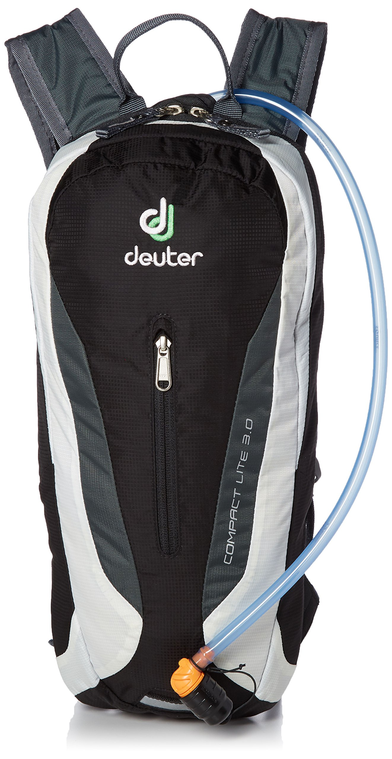 Deuter Black/White One Size 420011671300 Compact Lite with 3 Liter Reservoir-Perfect for Hiking, Biking, Hunting, Offroad and Motorcycling