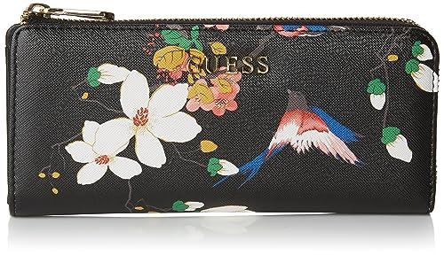 Guess SWISABP6493, Cartera Mujer, Multicolor (Black Multi), talla única: Amazon.es: Zapatos y complementos