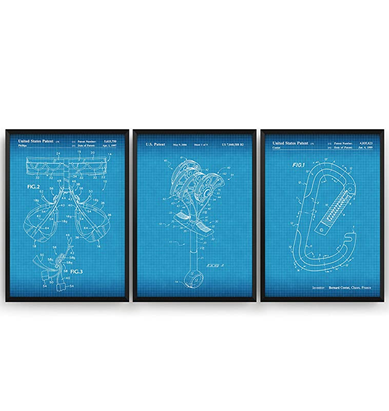 Escalada De Roca Poster de Patente - Conjunto de 3 ...