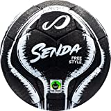 Senda Street Freestyle, Trick, and Skills Soccer Ball with Rubber Outer Cover, Fair Trade Certified, Black/White, Size 4…