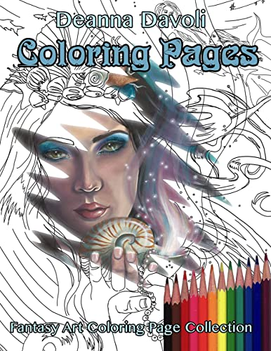 Amazon Com Fantasy Art Coloring Page Adult Coloring Pages Mermaid