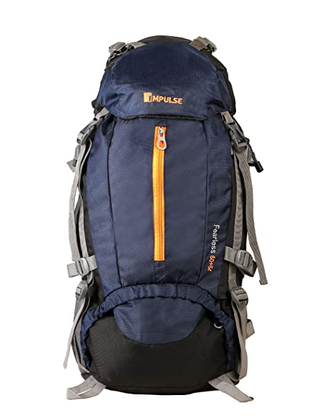 28007d978498 Impulse 65 Ltrs Blue Trekking Backpack (Inverse U Blue)  Amazon.in  Bags