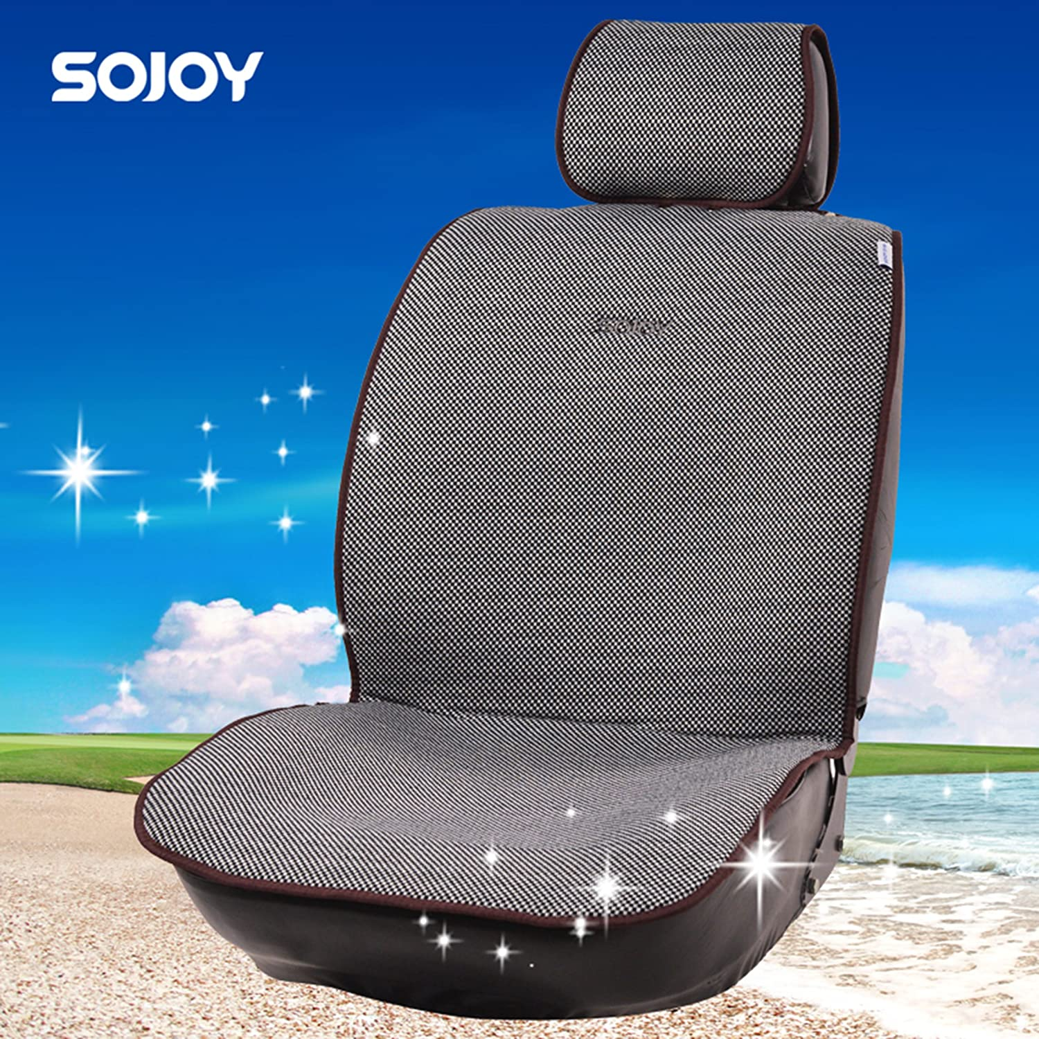 Grey Microfiber Seat Protector with Quick-Dry Car seat Protection for All Workouts All-Weather No-Slip Technology Sojoy IsoTowel Car Seat Cover