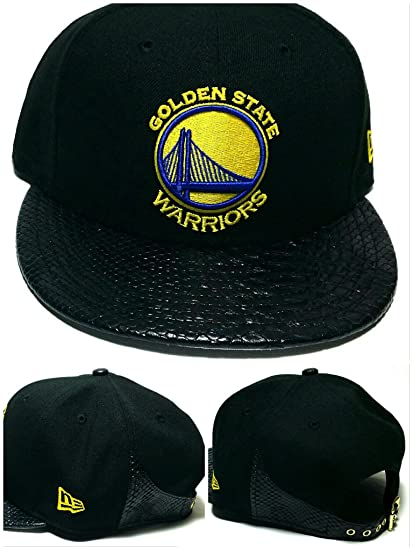 Image Unavailable. Image not available for. Color  Golden State Warriors  New Era 9Fifty Snakeskin Black Blue Strapback ... 47a5ee480e93