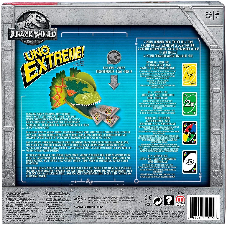 Amazon.com: Mattel Games UNO Extreme Jurassic World: Toys ...