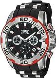 Invicta Men's Pro Diver Black Polyurethane Band Steel Case Quartz Analog Watch 22307