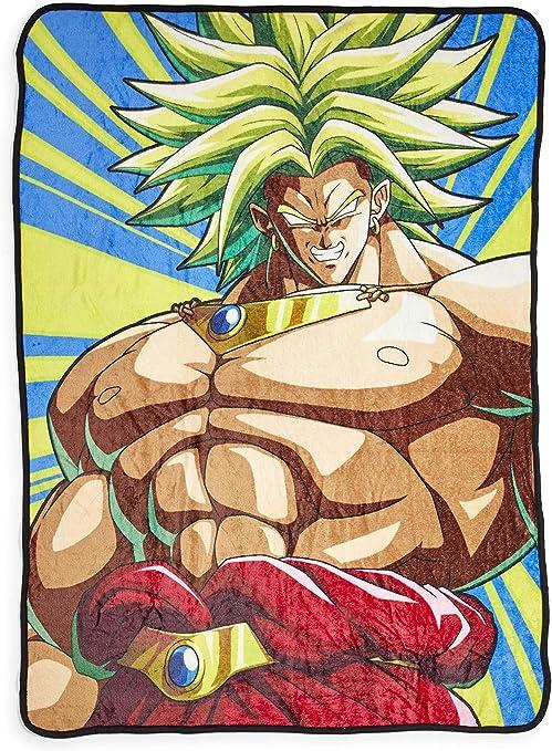 Dragon Ball Z Broly Fleece Throw Blanket - Cozy 45