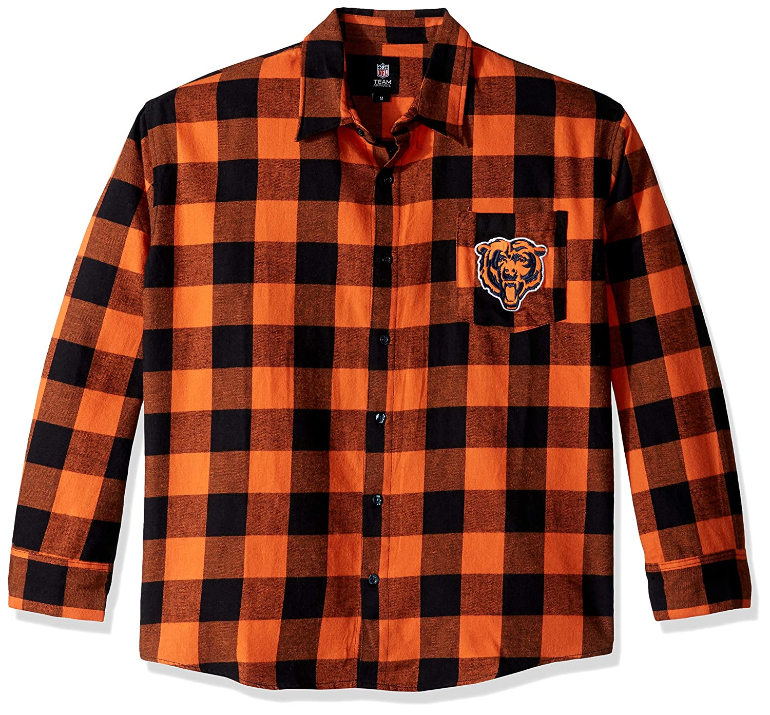 Mens Small Chicago Bears Large Check Flannel Shirt