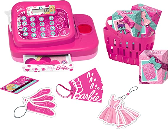 Barbie - Caja registradora Fashion (Lexibook RPB554): Amazon.es ...
