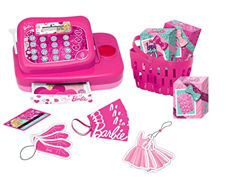 Barbie - Caja registradora Fashion (Lexibook RPB554)