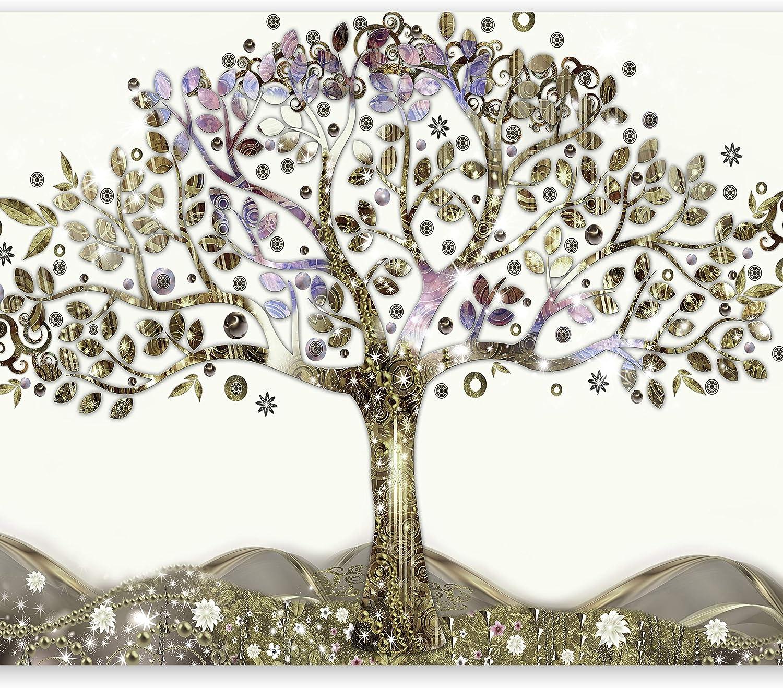 murando Carta da parati 300x210 cm Fotomurali in TNT Murale alla moda Decorazione da Muro XXL Poster Gigante Design Carta per pareti Gustaw Klimt Astratto albero della vita l-A-0002-a-b