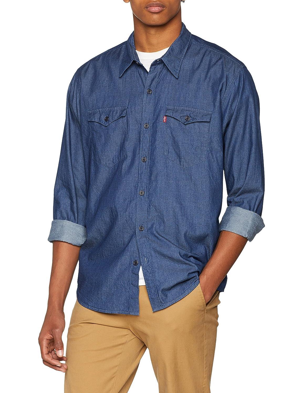 TALLA L. Levi's Modern Barstow Western Camisa Vaquera para Hombre